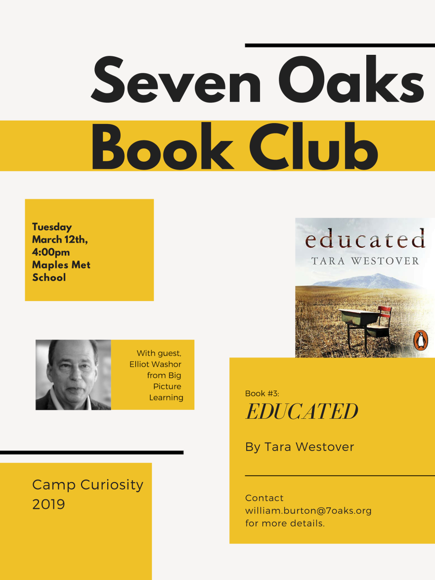 Seven Oaks Book Club Presents