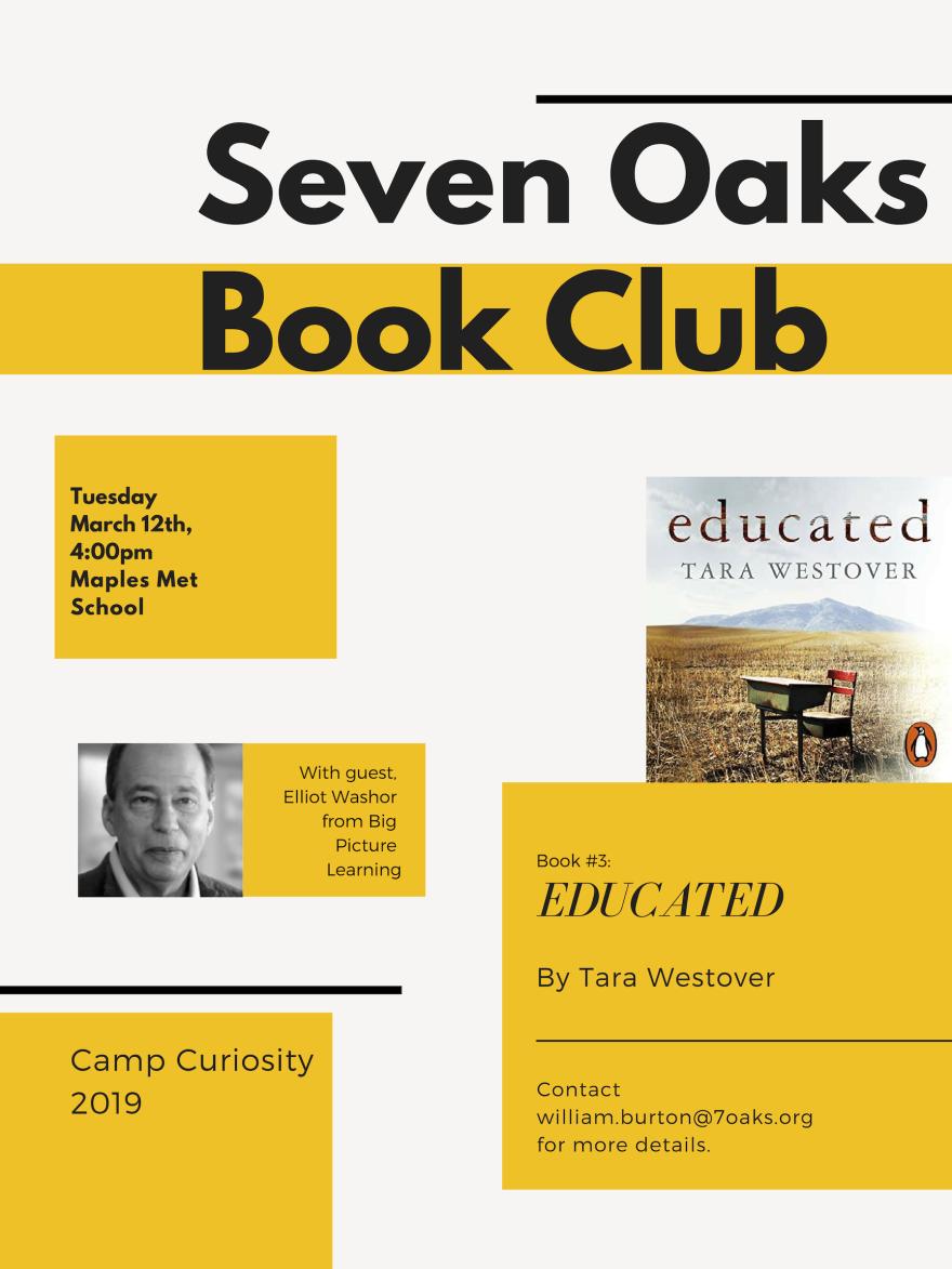 Seven Oaks Book Club Presents